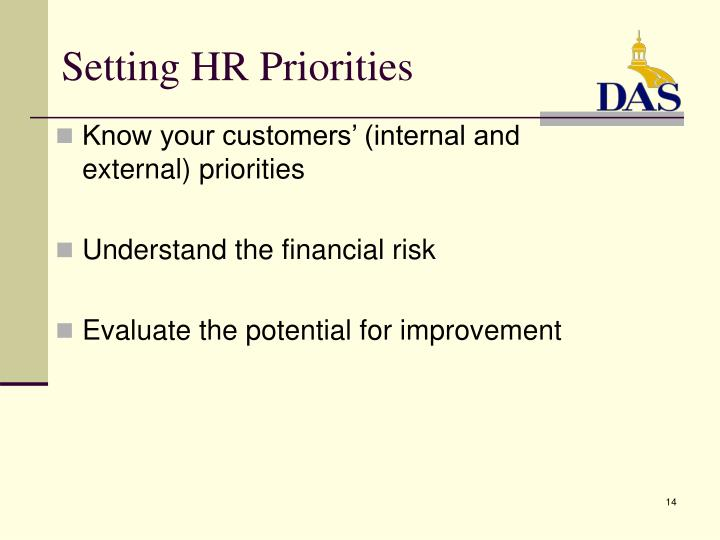 Setting HR Priorities