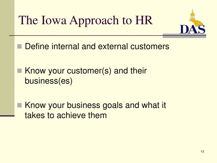 The Iowa Approach to HR