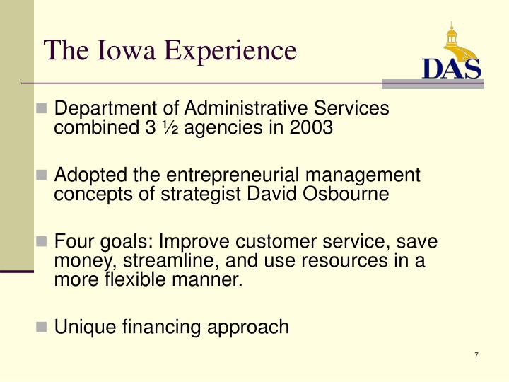 The Iowa Experience