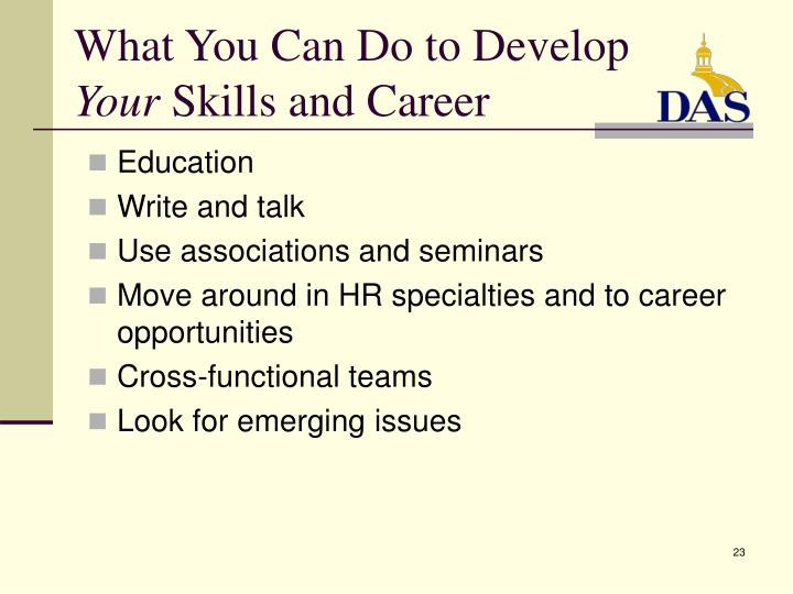 What You Can Do to Develop