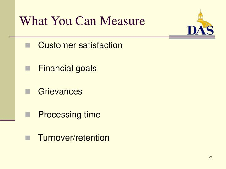 What You Can Measure