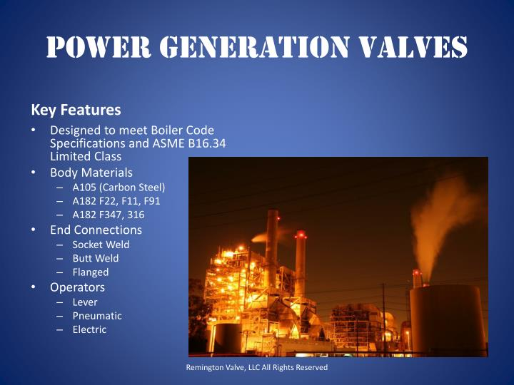 Power Generation Valves