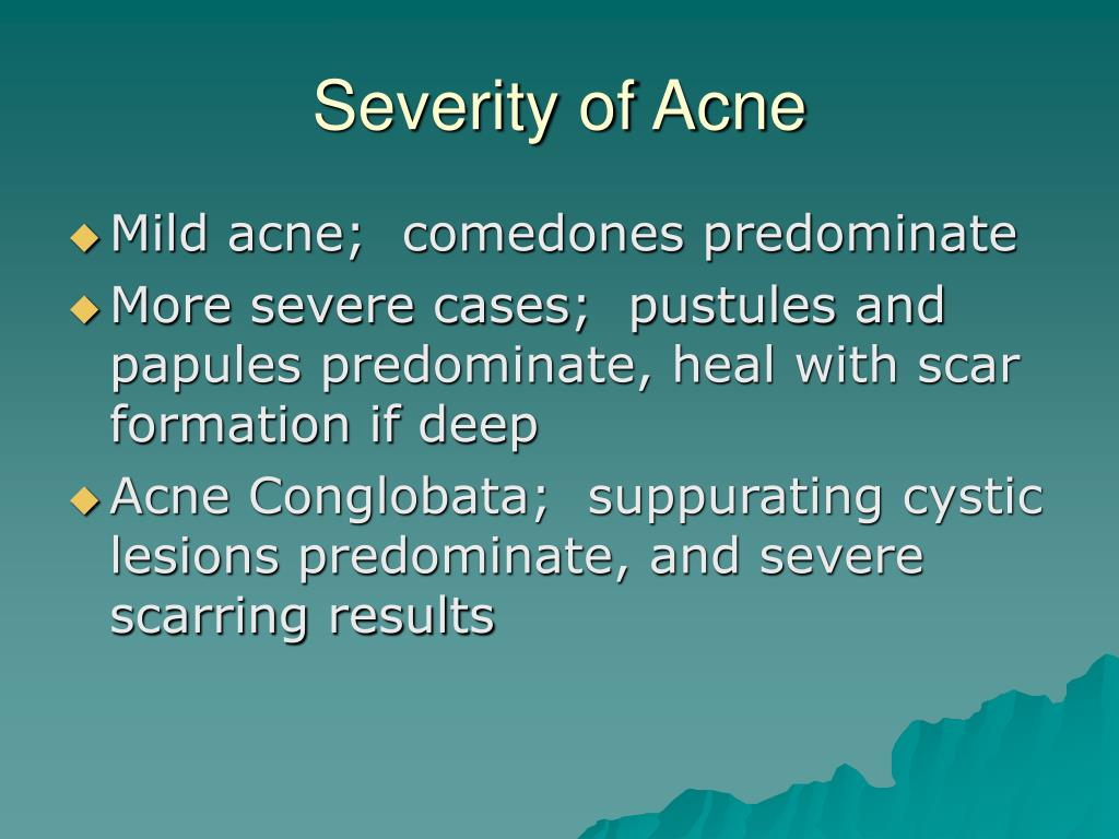 Severity of Acne