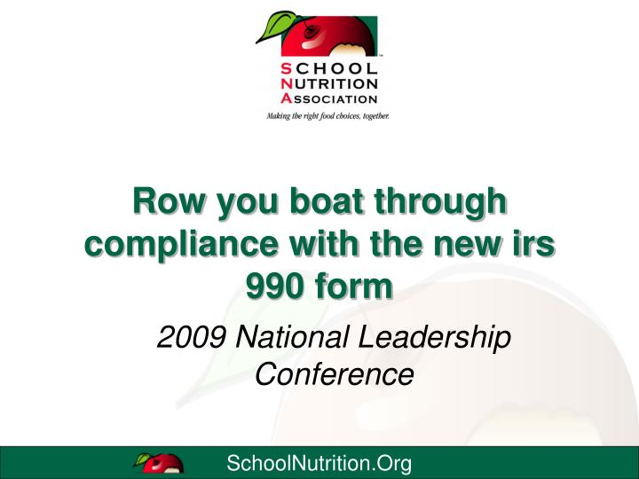 Row you boat through compliance with the new irs 990 form