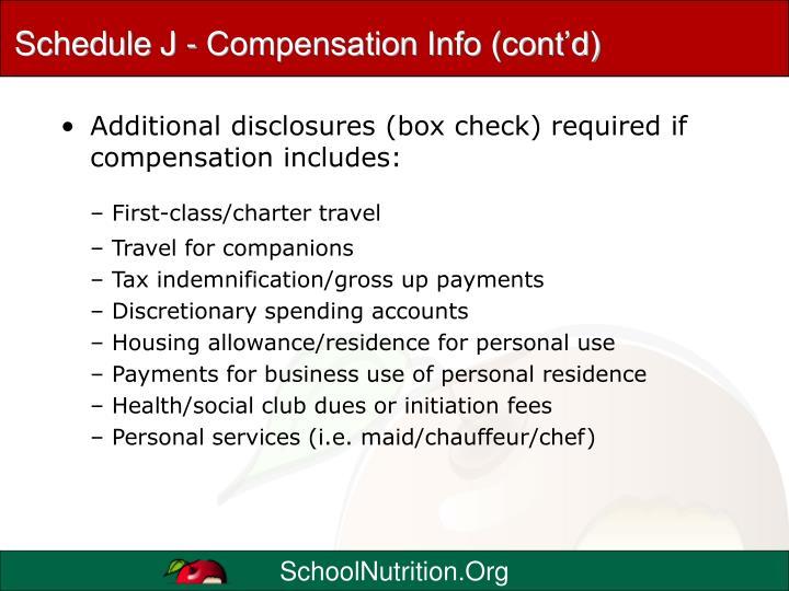 Schedule J - Compensation Info (cont'd)