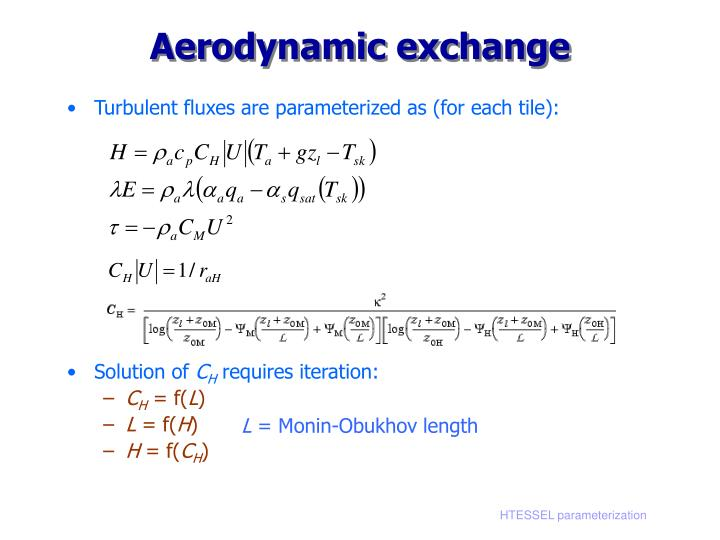 Aerodynamic exchange