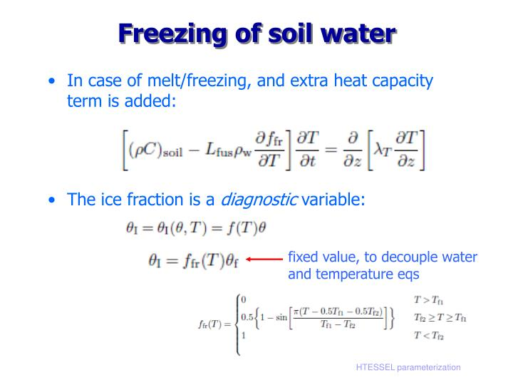 Freezing of soil water