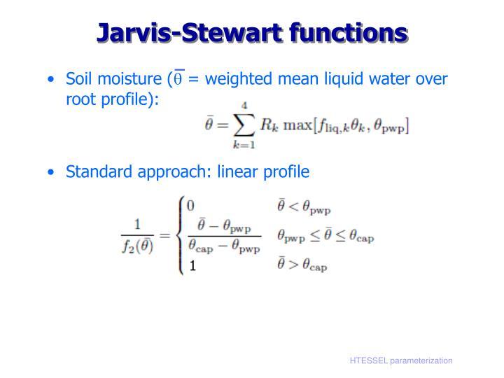 Jarvis-Stewart functions