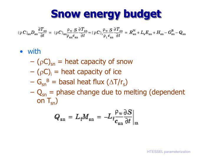 Snow energy budget