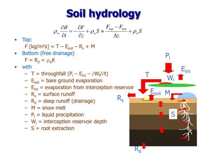 Soil hydrology
