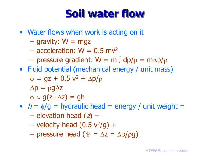 Soil water flow