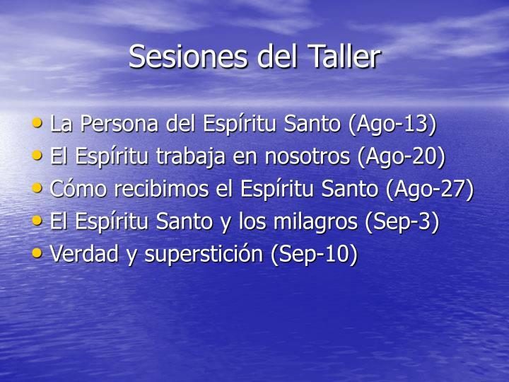 Sesiones del Taller