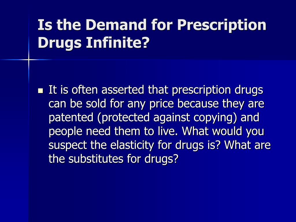 Is the Demand for Prescription Drugs Infinite?