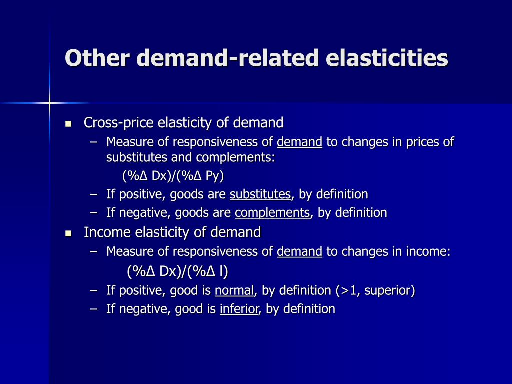 Other demand-related elasticities