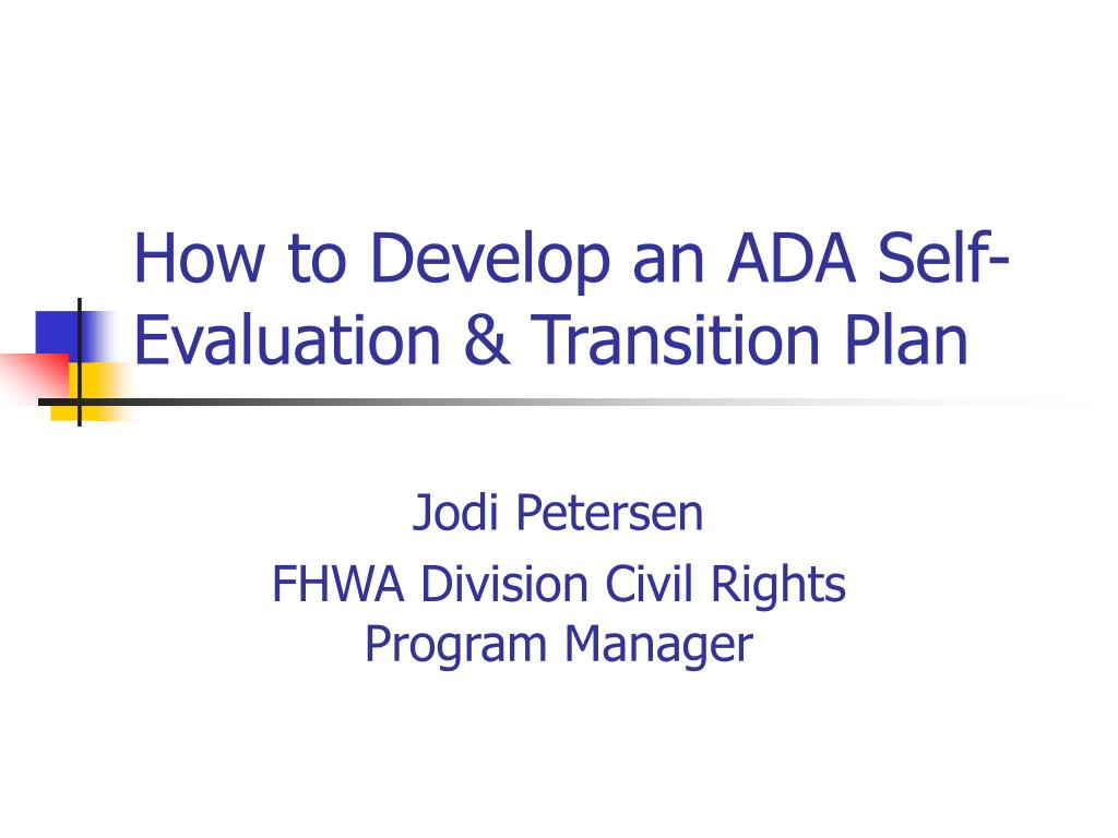 How to Develop an ADA Self-Evaluation & Transition Plan