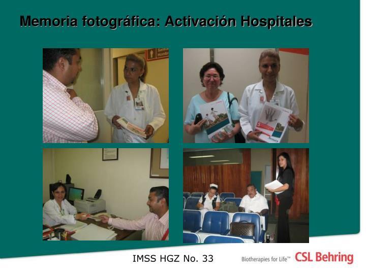 Memoria fotográfica: Activación Hospitales