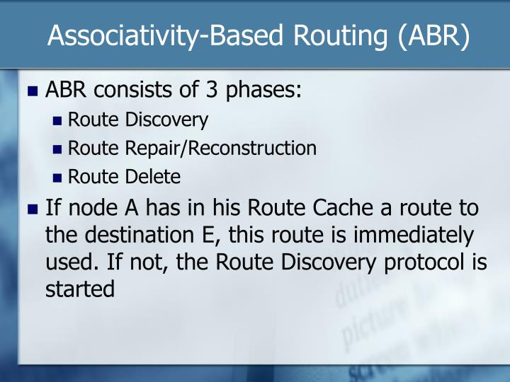 Associativity-Based Routing (ABR)