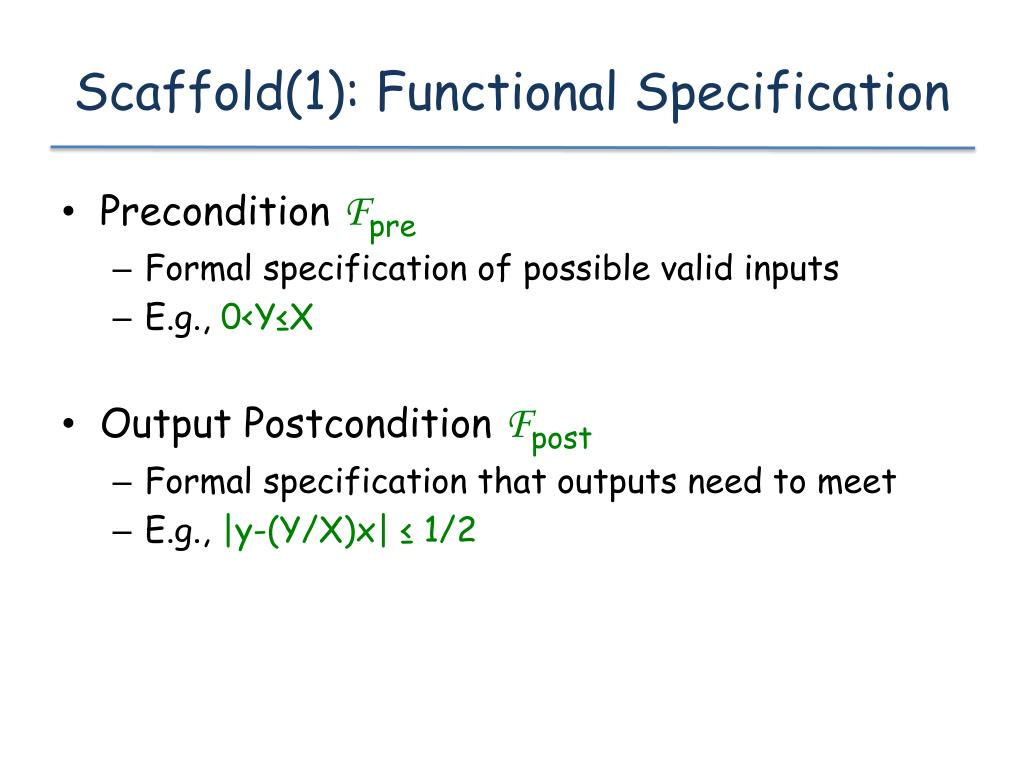 Scaffold(1): Functional Specification