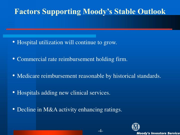Factors Supporting Moody's Stable Outlook