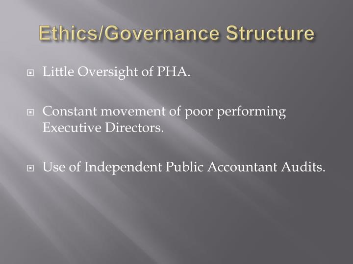 Ethics/Governance Structure