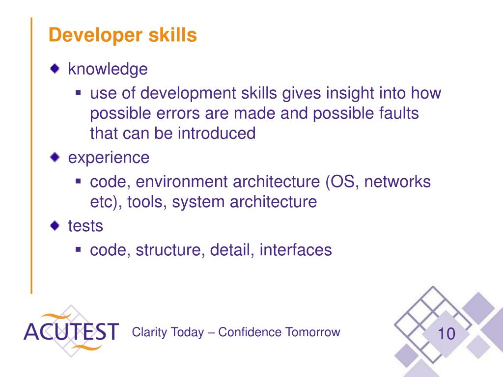 Developer skills