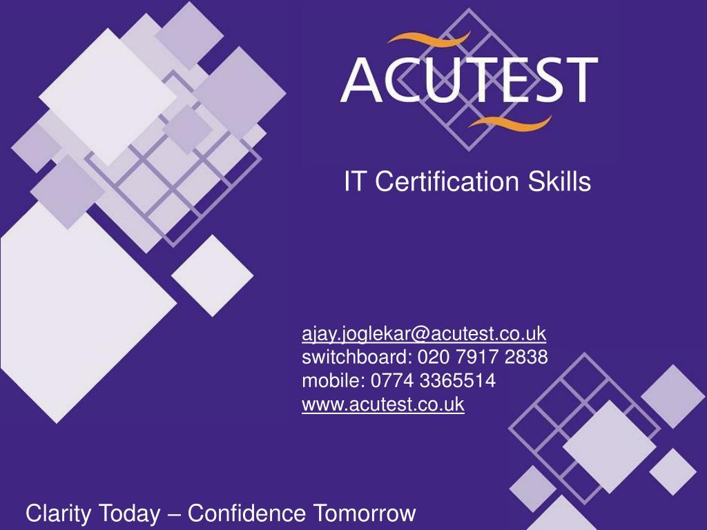 IT Certification Skills
