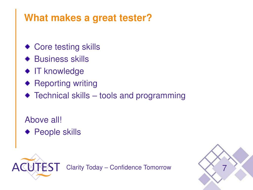 What makes a great tester?