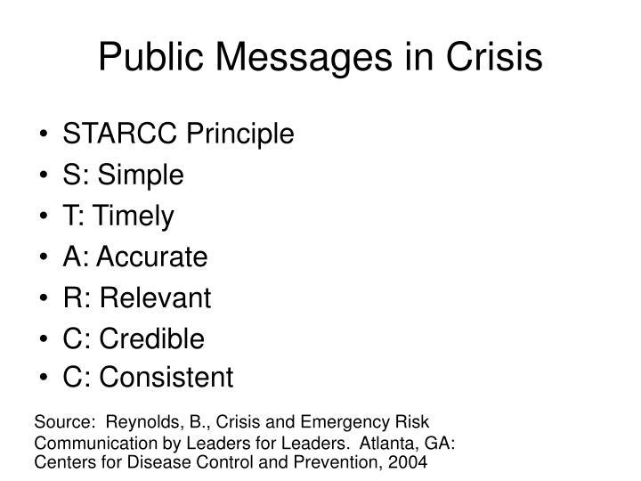 Public Messages in Crisis