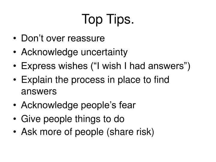 Top Tips.