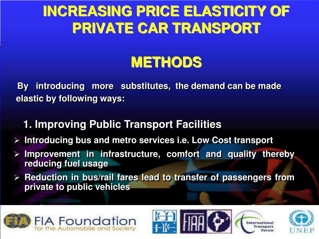 INCREASING PRICE ELASTICITY OF
