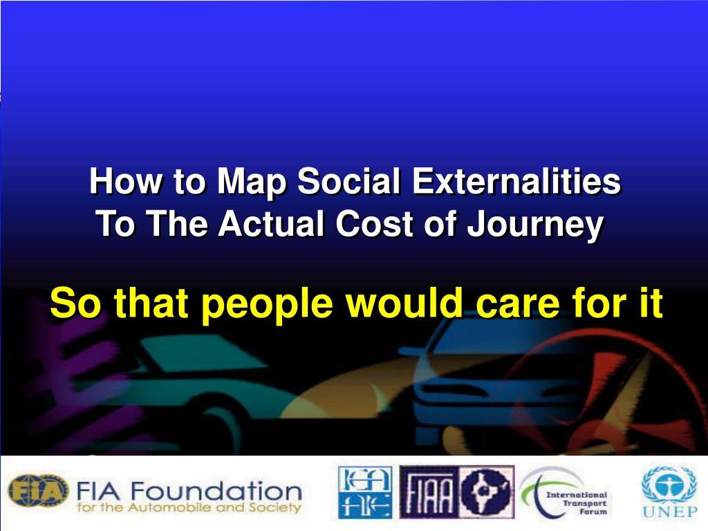 How to Map Social Externalities