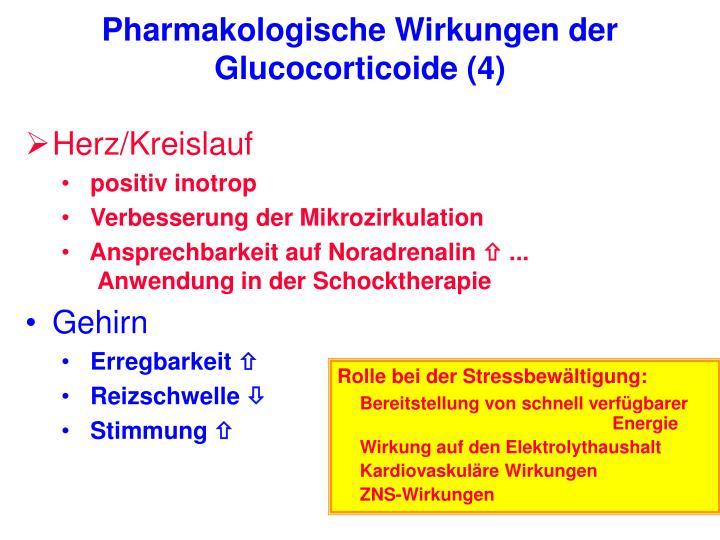 Pharmakologische Wirkungen der Glucocorticoide (4)