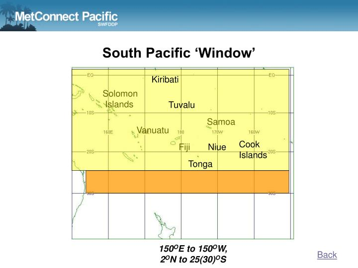 South Pacific 'Window'