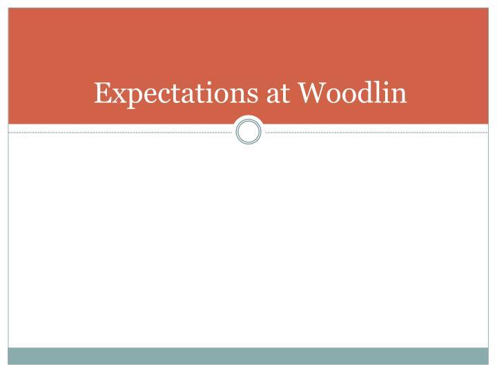 Expectations at Woodlin