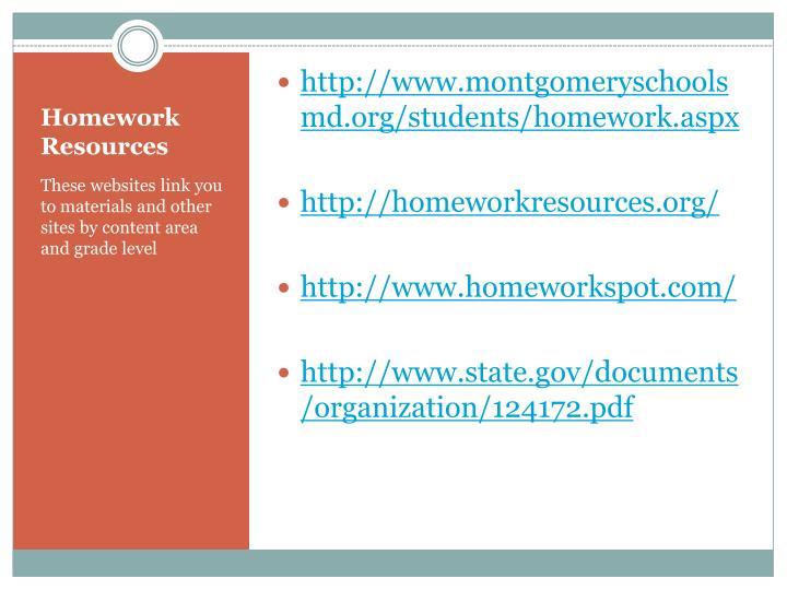 http://www.montgomeryschoolsmd.org/students/homework.aspx