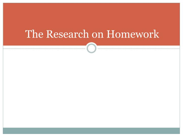 The Research on Homework