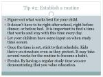 tip 2 establish a routine