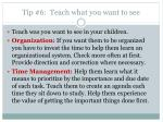 tip 6 teach what you want to see