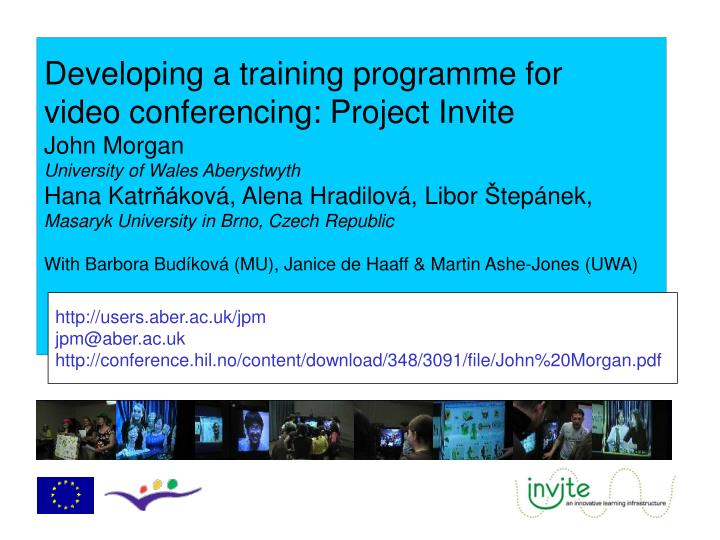 Developing a training programme for