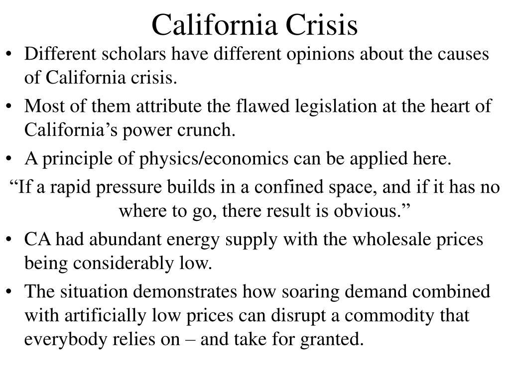 California Crisis