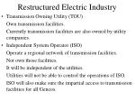 restructured electric industry9
