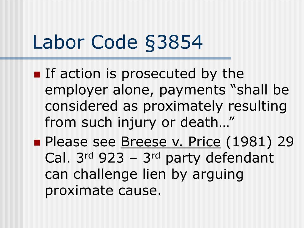 Labor Code §3854