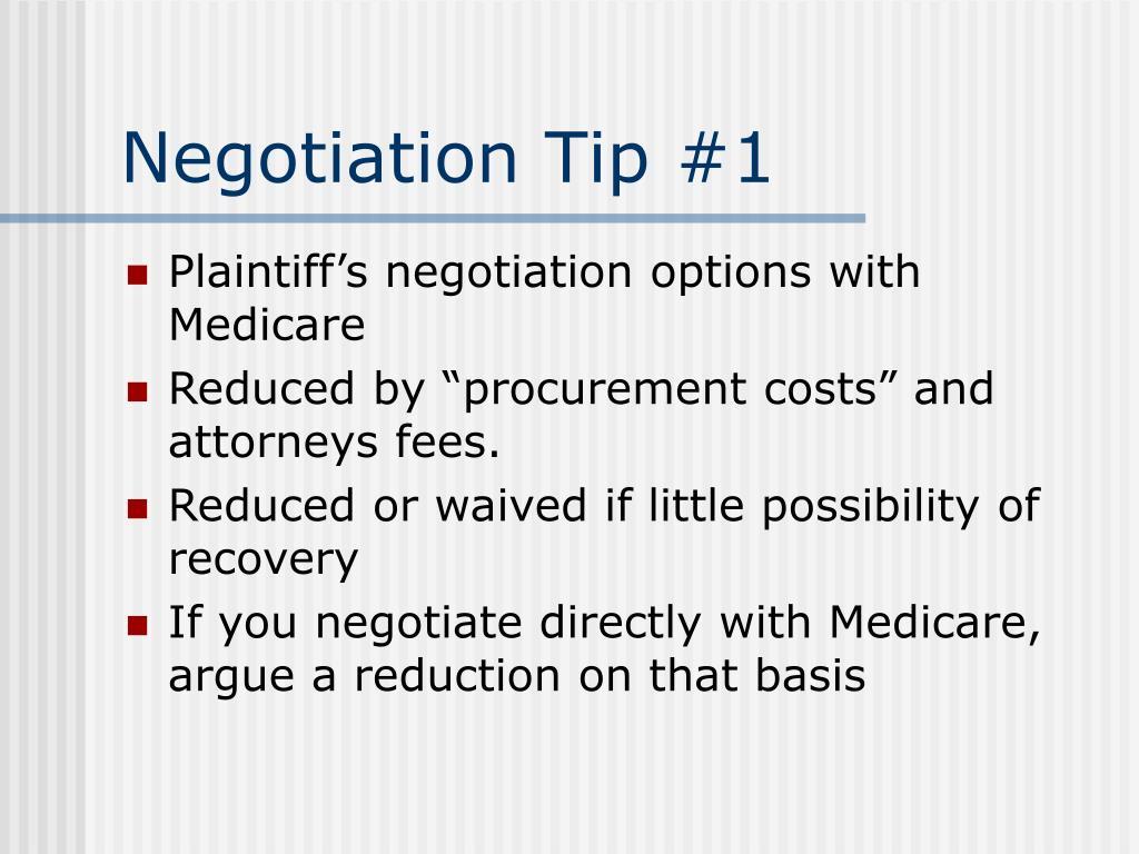 Negotiation Tip #1