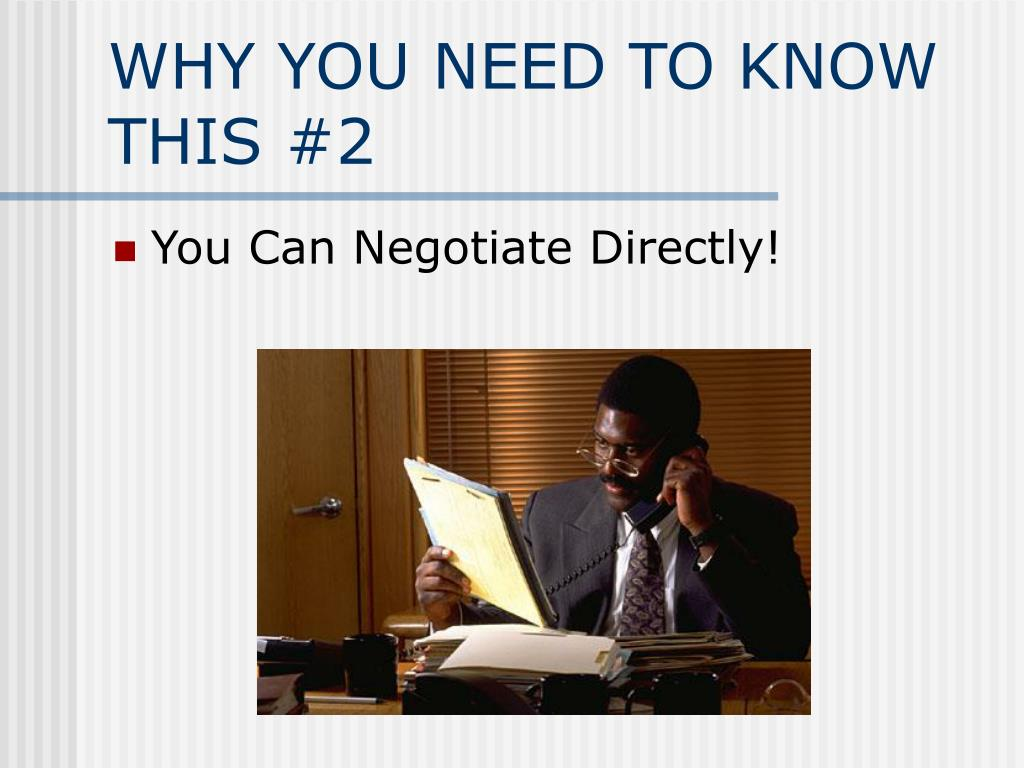 WHY YOU NEED TO KNOW THIS #2