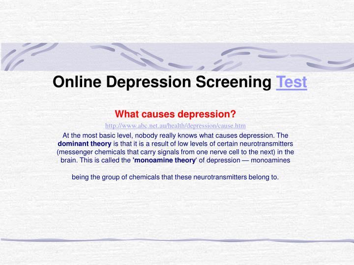 Online Depression Screening