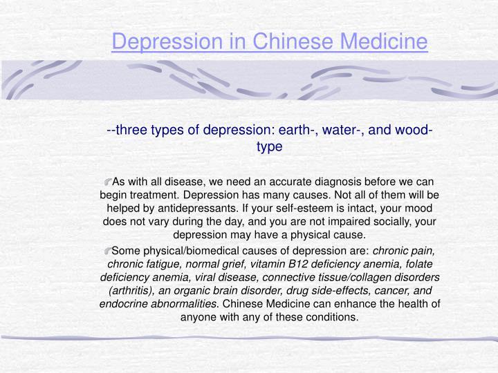 Depression in Chinese Medicine