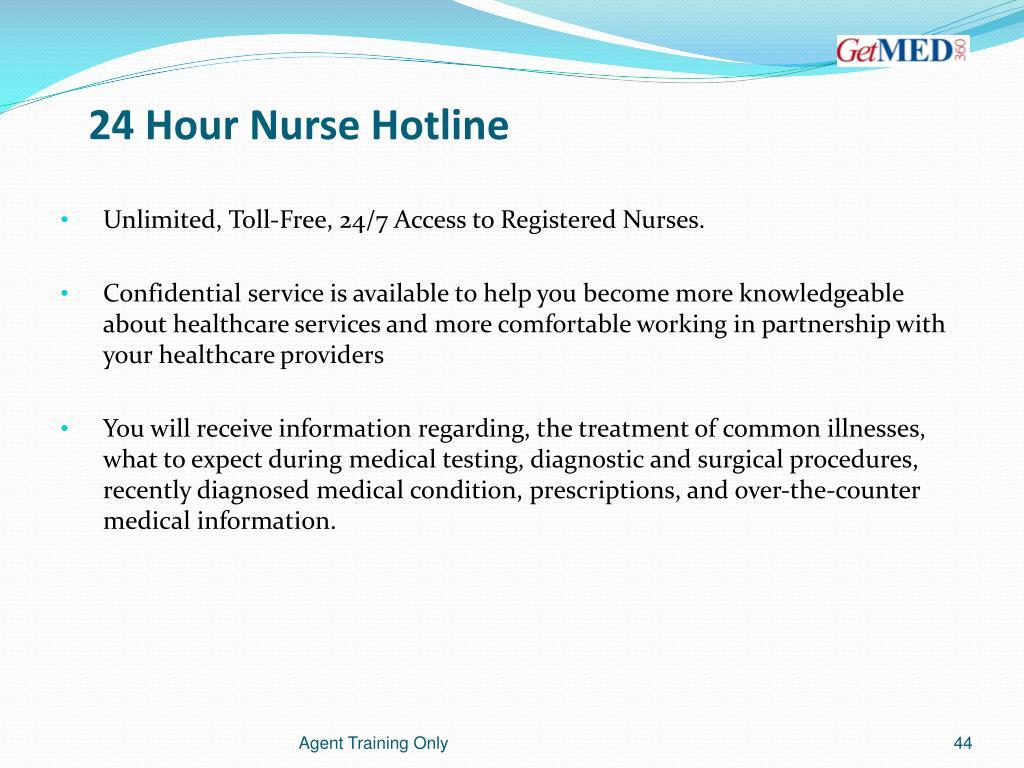 24 Hour Nurse Hotline