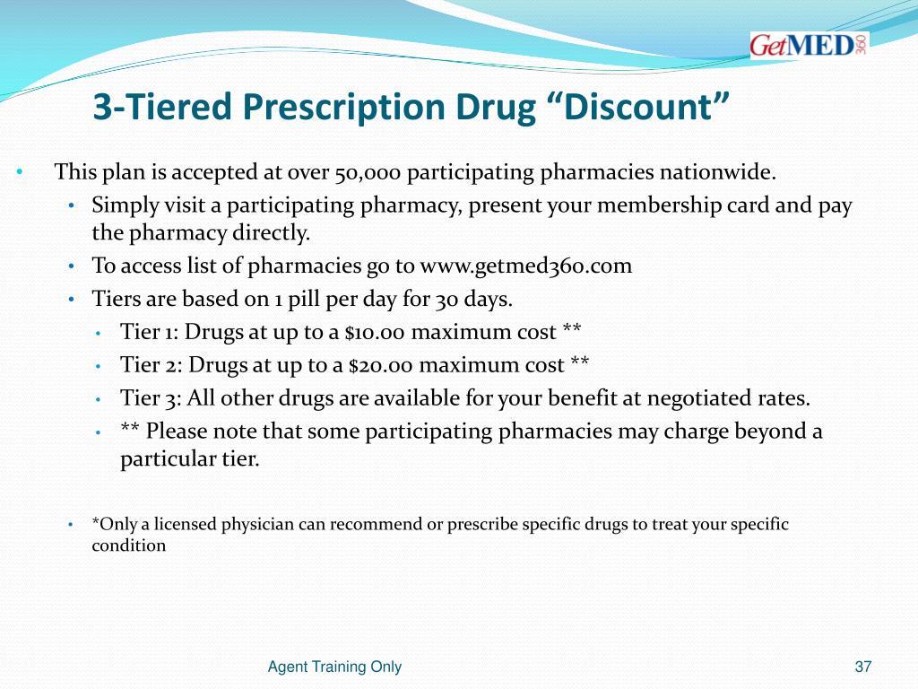 """3-Tiered Prescription Drug """"Discount"""""""