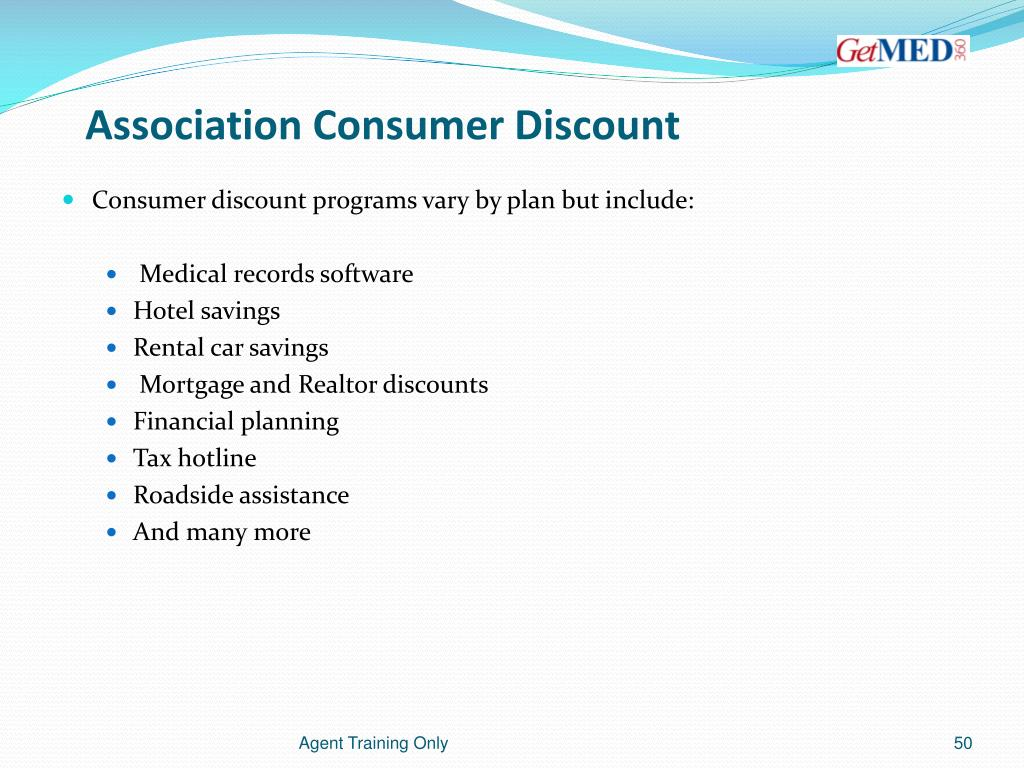 Association Consumer Discount