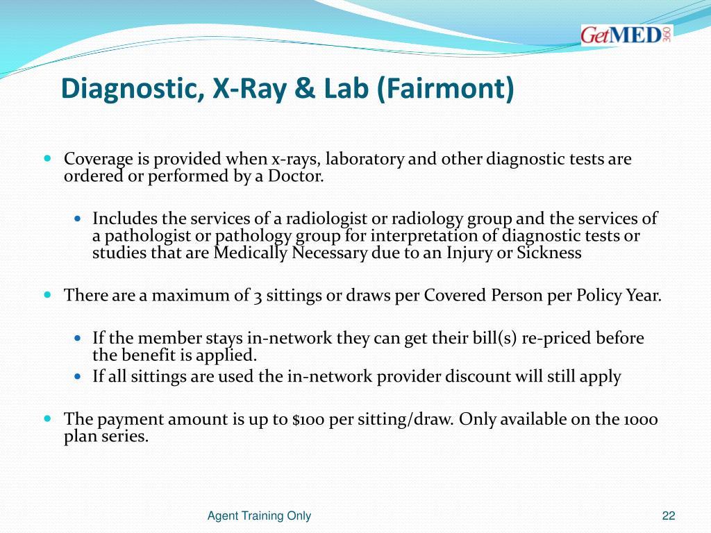 Diagnostic, X-Ray & Lab (Fairmont)